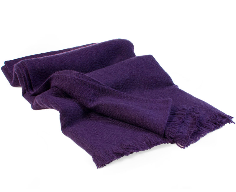 Winter Weight Wavy Shawl - Nightshade