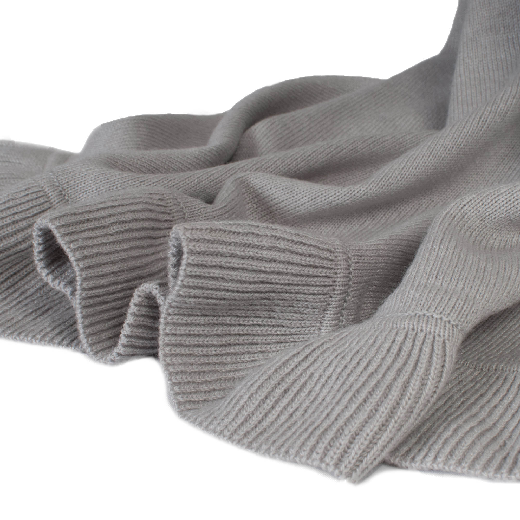 Frilled Edge Shawl - 50% Cashmere / 50% Silk - 70x200cm - Clematis Blue