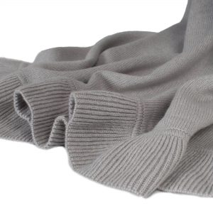 Frilled Edge Shawl - 50% Cashmere / 50% Silk - 70x200cm - Dune mp118