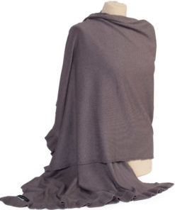 Frilled Edge Shawl - 50% Cashmere / 50% Silk - 70x200cm - Rabbit mp63
