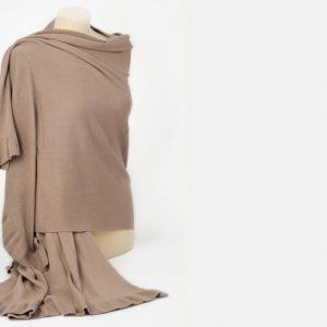 Frilled Edge Shawl - 50% Cashmere / 50% Silk - 70x200cm - Dune mp118