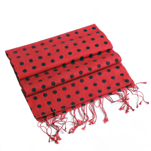 Spotted Pashmina Scarf - 70% Cashmere / 30% Silk