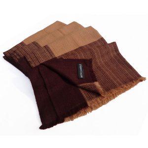 Rough Weave Stole- 100% Cashmere - 68x198cm - 256 Grams