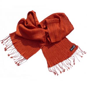 Crinkle Scarf - 23x180cm - 100% Cashmere