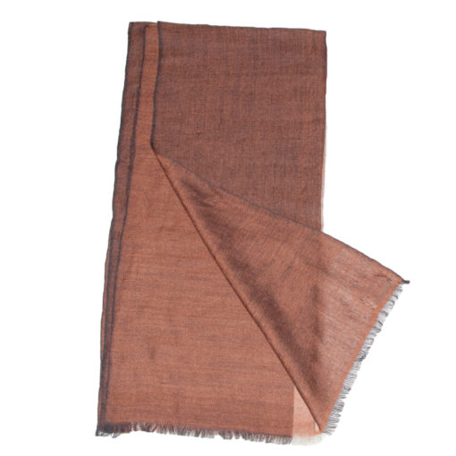 Fine Weave Two Tone - 47x208cm - 100% Cashmere - Browns