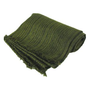 Handspun Pinstripes - 44cmx203cm - Palm Chive And Basil - 100% Cashmere