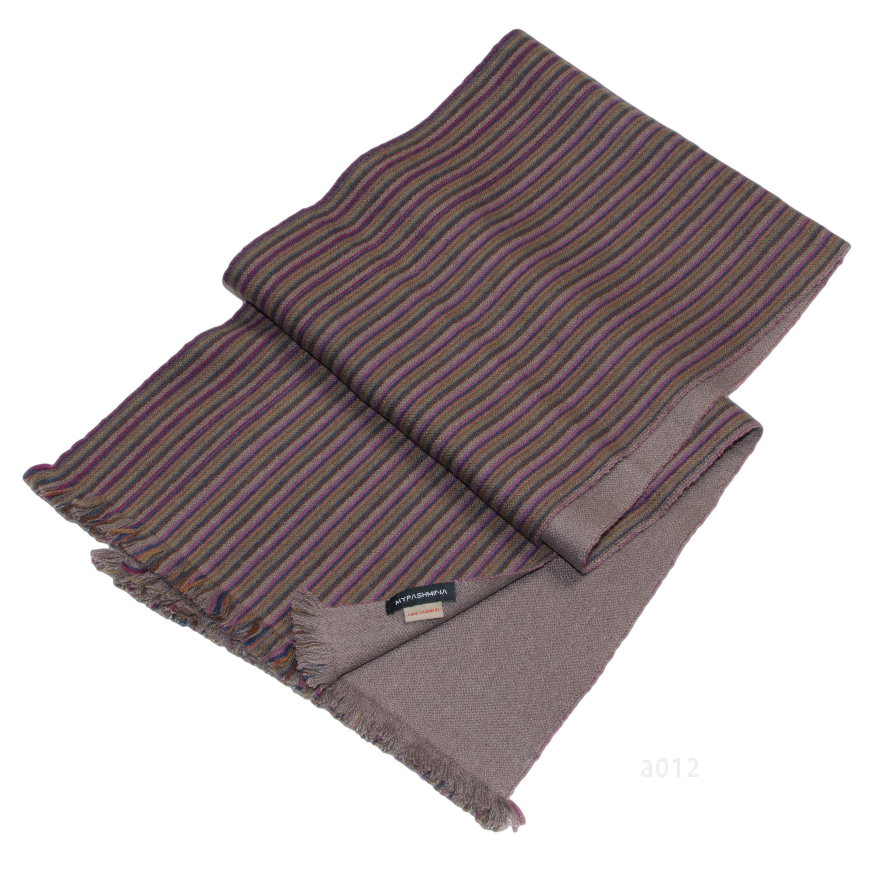 Reversible Stripescarf - 100% Cashmere - Big Box Hasa Muffler - 30x150cm