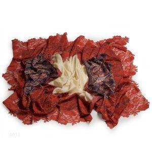 Lace Stole - 50% Wool / 50% Silk - 70x200cm - Multicolour