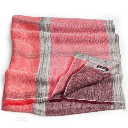 Stole - 54% Wool/46% Linen - Marlin Check - 70x200cm