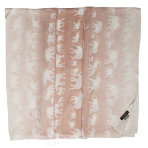 Printed Stole - 100% Cashmere - Diamond Weave - Margita Elephants - 70x200cm
