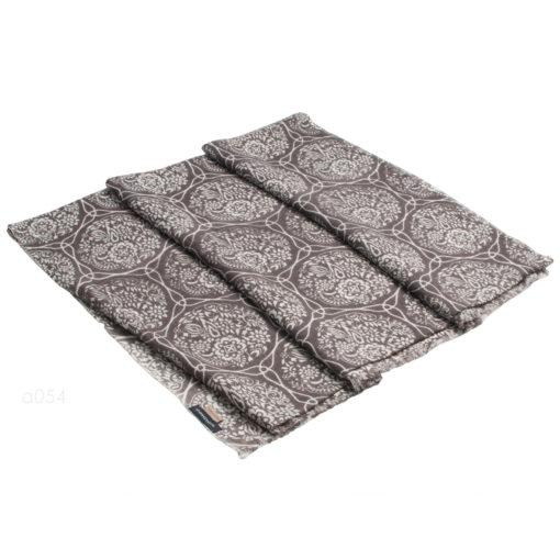 Printed Stole - 100% Cashmere - Herringbone Weave - Fossil Print - 70x200cm