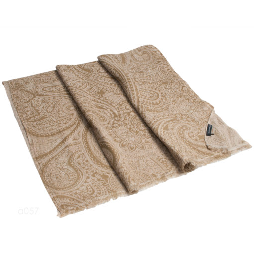 Printed Stole - 100% Cashmere - Twill Weave - Wholly Goat Paisley - 70x200cm