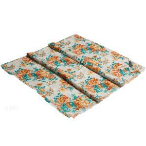 Printed Stole - 100% Cashmere - Diamond Weave - Rose Orange Print - 70x200cm