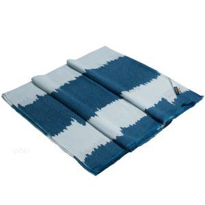 Printed Stole - 100% Cashmere - Herringbone Weave - Razor Blue - 70x200cm