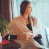 Angelweave Pashmina - 90% Cashmere / 10% Silk - 55x200cm - Aqua Sky