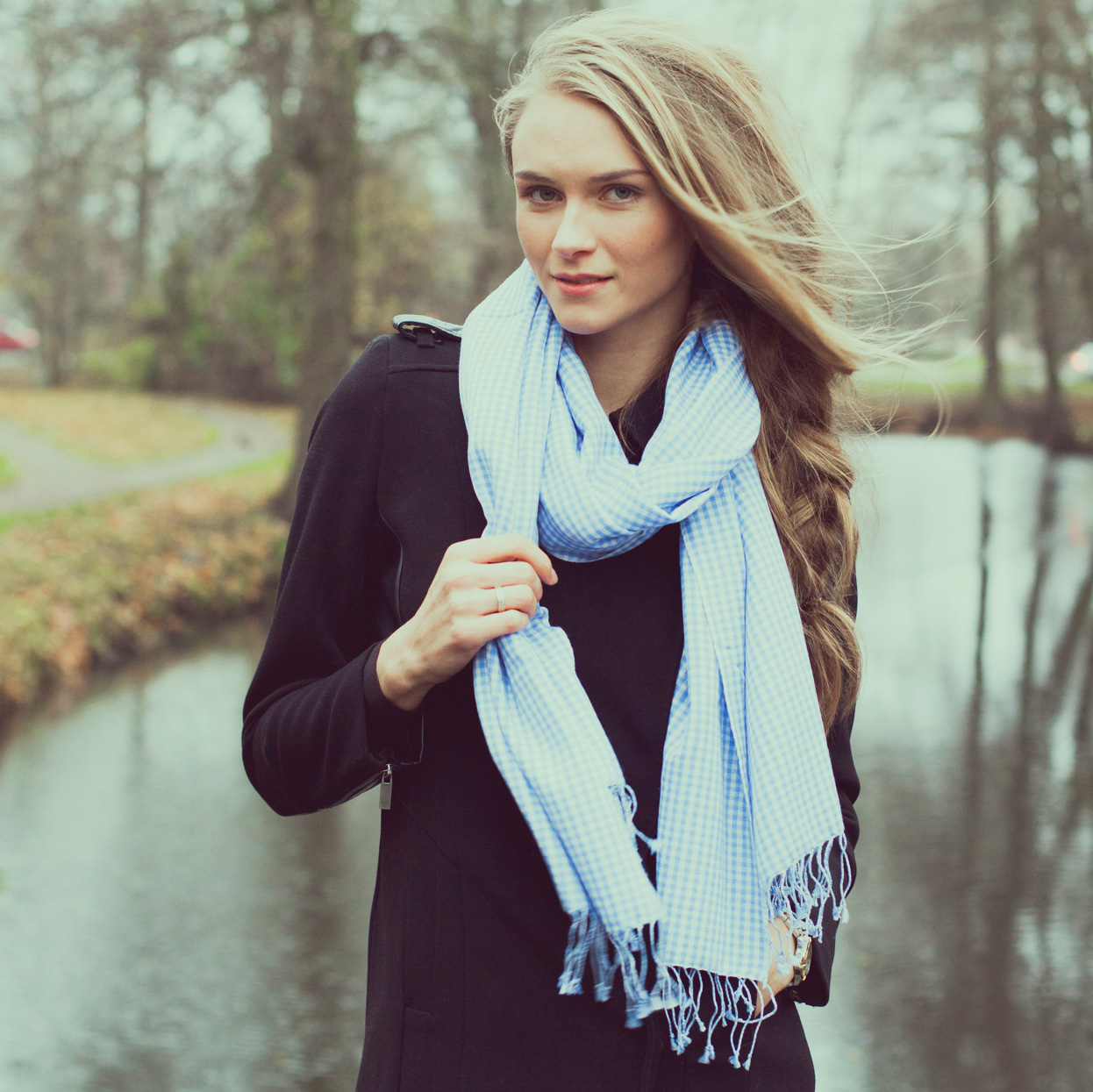 Gingham pashmina stoles - 70% Cashmere / 30% Silk