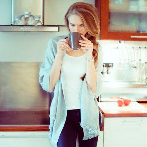 Herringbone Weave Pashmina - 100% Cashmere - 60x190cm - Open Fringe - Coffee Bean