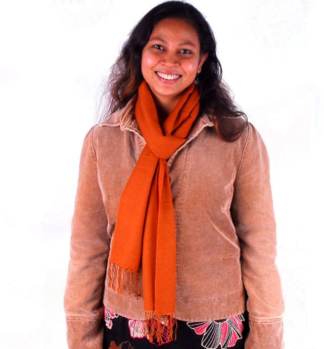 Pashmina Large Scarf - 45x200cm - 70% Cashmere/30% Silk - Hot Pink