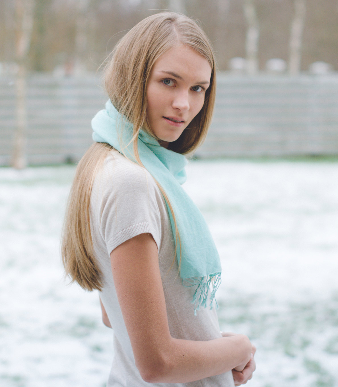 Pashmina Scarf - 30x150cm - 100% Cashmere - Bright Rose