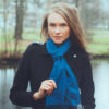 Pashmina Scarf - 30x150cm - 70% Cashmere/30% Silk - Clematis Blue