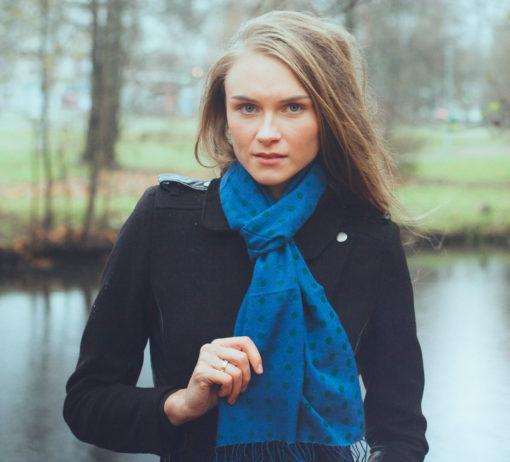 Pashmina Scarf - 30x150cm - 100% Cashmere - Clematis Blue