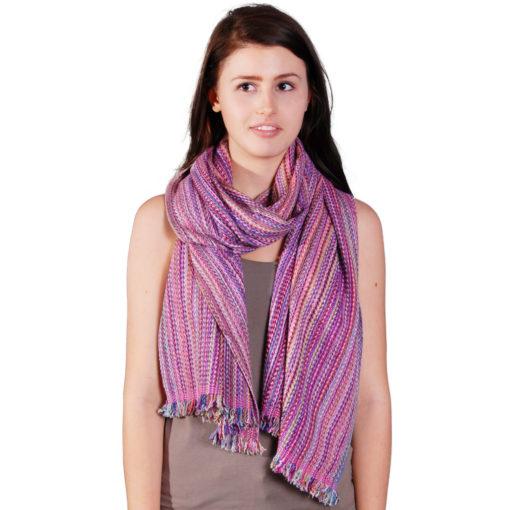 Cashmere Stripe Scarf - Srs09 - 45x180cm