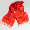 Varanasi Silk Scarf - 24x180cm - Jacquard - Orange