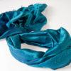 Varanasi Silk Scarf - 55x180cm - Jacquard - Blue / Turquoise