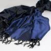Varanasi Silk Scarf - 55x180cm - Reversible - Black / Purple