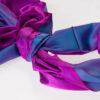 Varanasi Silk Scarf - 55x180cm - Reversible - Fuschia / Blue