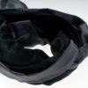 Varanasi Silk Scarf - 55x180cm - Reversible - Charcoal / Black
