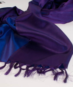 Varanasi Silk Scarf - 55x180cm - Reversible - Light Purple / Dark Purple