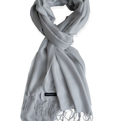 Pure Silk Scarf (210 Quality) - 60x190cm - Vapor Blue