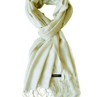 Pure Silk Scarf (210 Quality) - 60x190cm - Winter White