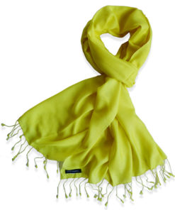 Pure Silk Scarf (210 Quality) - 60x190cm - Buttercup