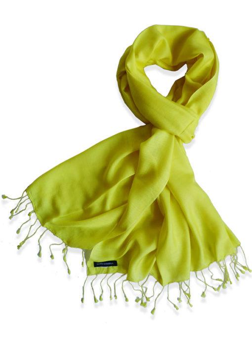 Pure Silk Scarf (210 Quality) - 60x190cm - Buttercup