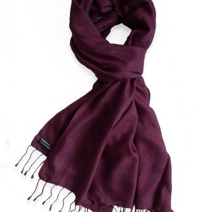 Pure Silk Scarf (210 Quality) - 60x190cm - Burgundy