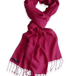 Pure Silk Scarf (210 Quality) - 60x190cm - Raspberry Wine