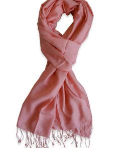 Pure Silk Scarf (210 Quality) - 60x190cm - Peach Blossom