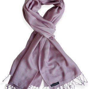 Pure Silk Scarf (210 Quality) - 60x190cm - Wood Rose