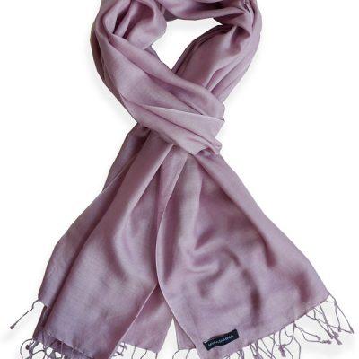 Pure Silk Scarf (210 Quality) - 60x190cm - Wood Rose