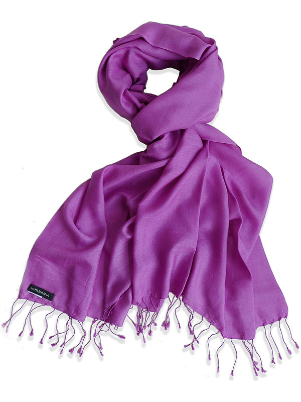 Pure Silk Scarf (210 Quality) - 60x190cm - Deep Orchid