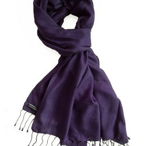 Pure Silk Scarf (210 Quality) - 60x190cm - Fig
