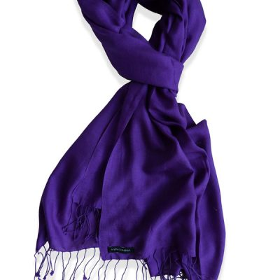 Pure Silk Scarf (210 Quality) - 60x190cm - Royal Purple