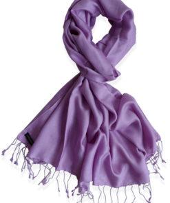 Pure Silk Scarf (210 Quality) - 60x190cm - Dusty Lavender