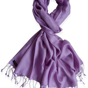 Pure Silk Scarf (210 Quality) - 60x190cm - Dusty Lavender