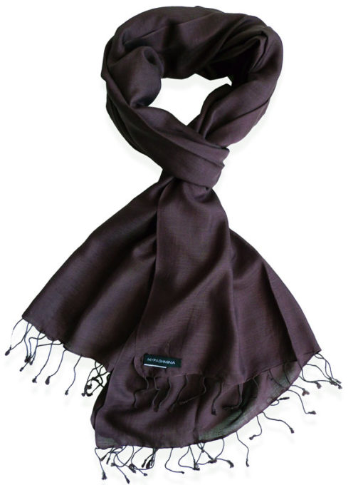 Pure Silk Scarf (210 Quality) - 60x190cm - Fudge