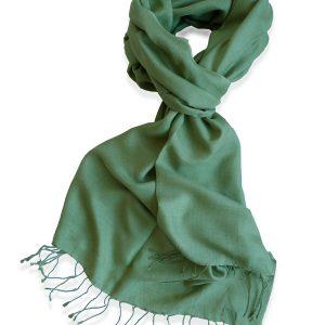 Pure Silk Scarf (210 Quality) - 60x190cm - Mosstone