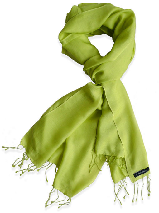 Pure Silk Scarf (210 Quality) - 60x190cm - Bright Chartreuse