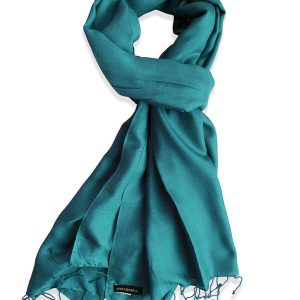 Pure Silk Scarf (210 Quality) - 60x190cm - North Sea